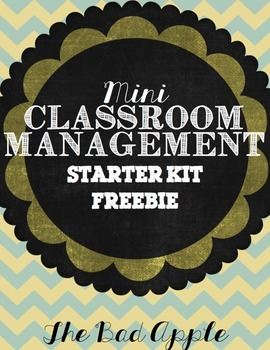 FREEBIE Mini Classroom Management Starter Kit