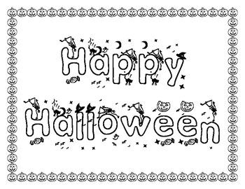 {FREEBIE} Mini Halloween Packet