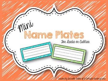 *FREEBIE* Mini Name Plates