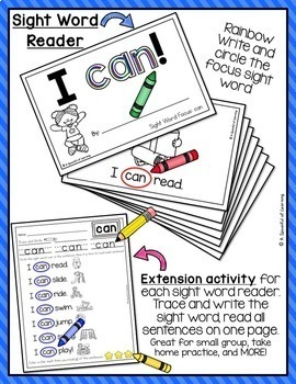 Sight Word Reader for 'Can' FREEBIE!!