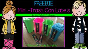 FREEBIE Mini Trash Can Labels