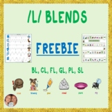 FREEBIE! Mixed /L/ Blend Articulation Game board and Worksheet