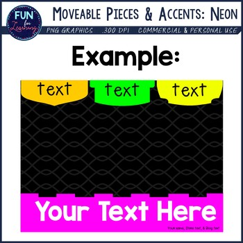 Fancy Moveable Pieces & Accents {Neon Colors Edition}