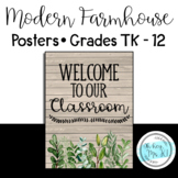 """FREEBIE! Modern Farmhouse """"Welcome to our Classroom"""" Sign"""