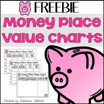 FREEBIE - Money Place Value Boards & Recording Sheet - Sort & Record Money
