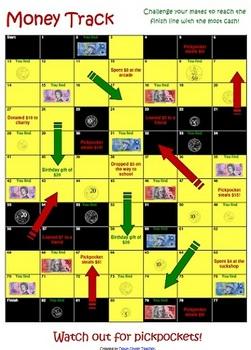 FREEBIE: Money Track board game