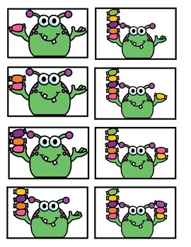 FREEBIE!--Monsterously Fun Numeral Writing and Counting Center for K-1