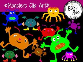 "FREEBIE ""Monsters"" (Bitsy Bee Clip Art)"