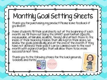 FREEBIE Monthly Goal Setting Sheet - September