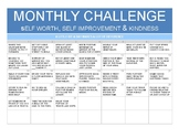 Monthly planner for self improvement & kindness