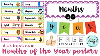 FREEBIE: Months of the year display