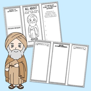 FREEBIE! Moses Biblical Character Research Brochure Project