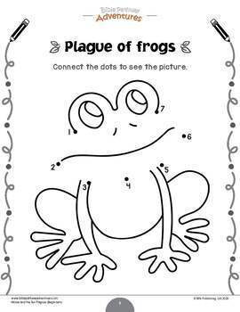 FREEBIE: Moses & the Ten Plagues activity pack for kids ages 3-5