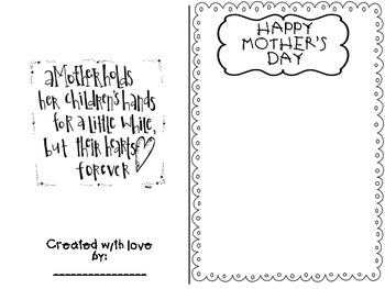 FREEBIE: Mother's Day Card! FREEBIE!