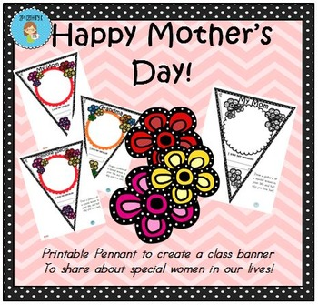 FREEBIE Mother's Day Pennant Banner Worksheet