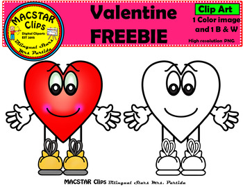 FREEBIE Mr.  Valentine  Clipart Personal and Commercial Use Clips