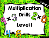 {FREEBIE} Multiplication Drills Level 1 (2s-9s & Mixed)
