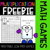 FREEBIE Multiplication Math Game {Roll&Cover}