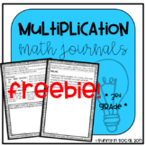 Multiplication Math Journal Error Analysis and Problem Solving FREE