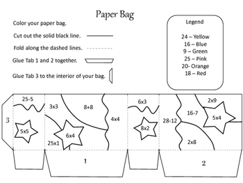 FREEBIE Multiplication Paper Bag