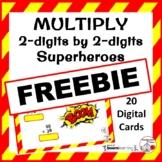 FREEBIE ... Multiply 2-digits by 2-digits ... Superheroes ... Paperless Digital
