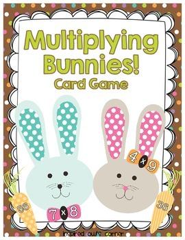 Multiplying Bunnies Card Game