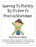 FREEBIE - Multiplying by 0's and 1's Practice - Common Core Aligned