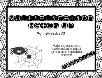 FREEBIE! Mutliplication Match Up