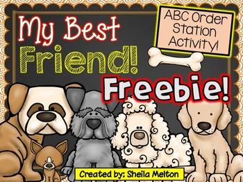 ABC Order Activity FREEBIE! (My Best Friend!) Literacy Station