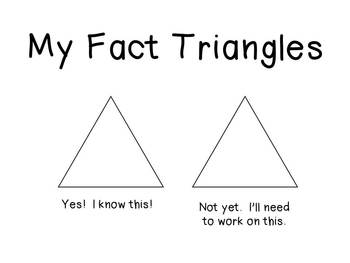 FREEBIE My Fact Triangles Practice Page