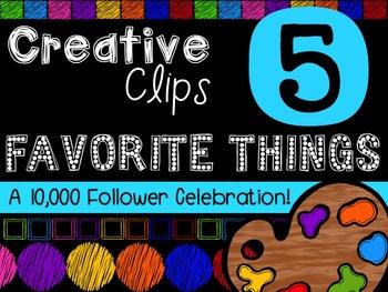 FREEBIE! My Favorite Things #5 {Creative Clips Digital Clipart}