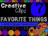 FREEBIE! My Favorite Things #7 {Creative Clips Digital Clipart}