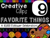 FREEBIE! My Favorite Things #9 {Creative Clips Digital Clipart}