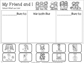 FREEBIE My Friend and I-Chat, Cut and Paste Activity (beginning of the year)