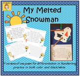 """My Melted Snowman"" Handwriting Practice"