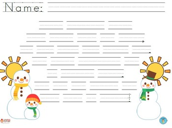 """""""My Melted Snowman"""" Handwriting Practice"""