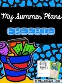 FREEBIE - My Summer Plans {English}