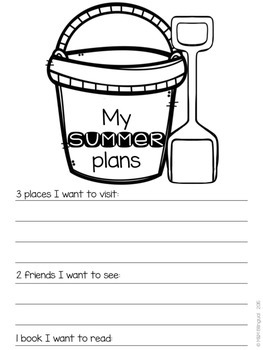 FREEBIE - My Summer Plans {English}
