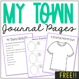 City/Town Research Notebook Journal Pages | State History Lessons | FREE