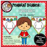 "FREEBIE ""My Ugly Sweater"" Pennant Banner Worksheet"