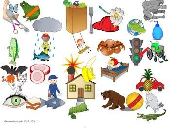 FREEBIE! Mystery Picture Hunt game for speech therapy