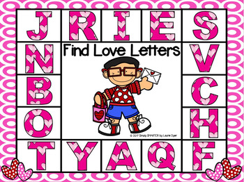 FREEBIE:  NO PREP Find Love Letters Spot and Dot Game