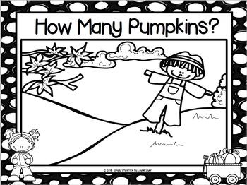 FREEBIE:  NO PREP How Many Pumpkins? Game