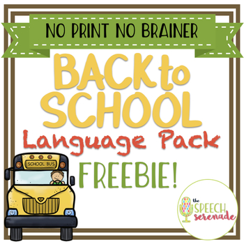 NO PRINT Back to School Language FREEBIE