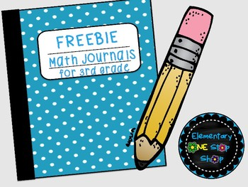 FREEBIE NO Prep Printable Math Journals- 3rd Grade