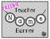 FREEBIE Name Banner BW
