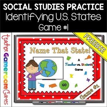 FREEBIE - Name that State - Identifying States Powerpoint Game #1