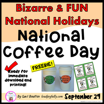 """FREE download! """"National Coffee Day"""" (Sept. 29th!)"""