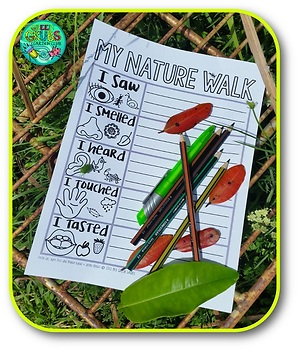 Nature Walk Activity FREEBIE! {Writing recording sheet for your Nature Walk}