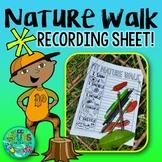 Nature Walk Activity FREEBIE! {Writing recording sheet for